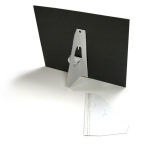 "15"" Self-Stick Easel Back - Single Wing - White - 50 / Pack"
