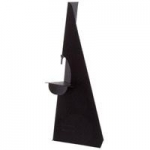 "7"" Self-Stick Easel Back - Single Wing - Black - 50 / Pack"