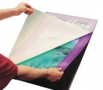"25"" x 37"" Laminating Pouch Board - Black - 10 / Pack"