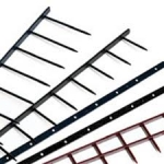 "14"" x 1"" GBC VeloBind® Strips - 14 Pin - Black - 100 / Box - 9741170G"